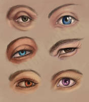 30 day paint challenge - day 3 eyes study by miss-alchemist