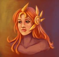 Leona - portrait - League of Legends by miss-alchemist