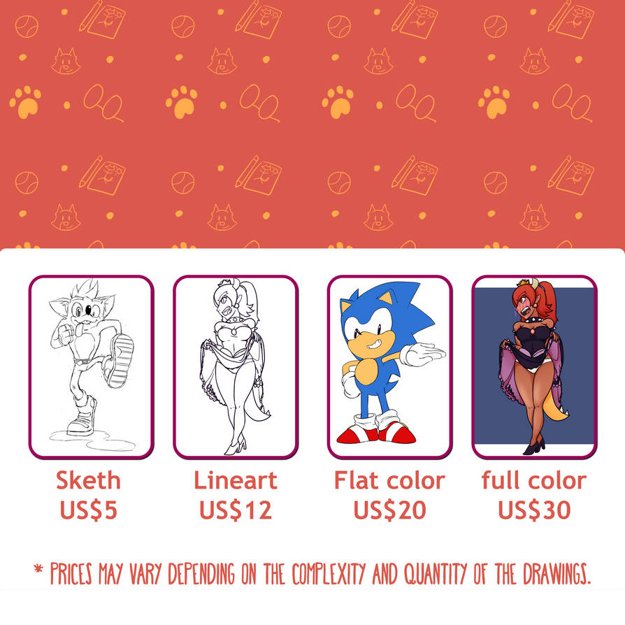 Commissions banner gringo 2 (square) by fakescs