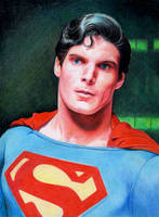 Christopher Reeves as Superman by Pevansy