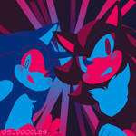 Sonic and Shadow by SJ-The-Hedgie