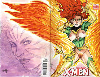 Erotic Earth Phoenix - X-Men no.1 Sketch Cover by TCatt