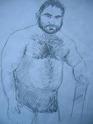 Shirtless arab lifter by garrix