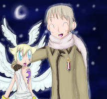 Russia and Lucemon by AquaPatamon