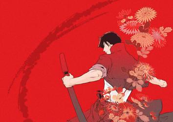 Red Chrysanthemum by CQ-uz