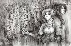 wistaria by Maria-Sandary