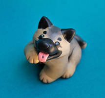 Eurasier puppy dog sculpture by SculptedPups