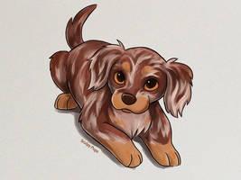 Just a cute puppy by SculptedPups