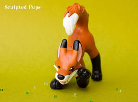 Spring fox sculpture by SculptedPups
