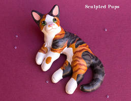 Tabby cat commission sculpture by SculptedPups