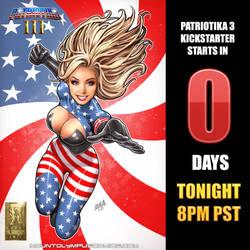 Patriotika 3 Kickstarter Launches tonight! by Mountolympuscomics