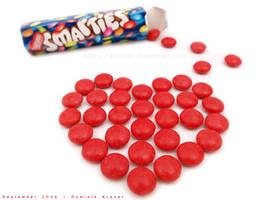 chocolate heart - smarties by dkraner