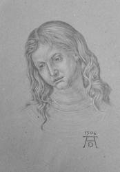 Head of the twelve year old Christ by Johejua