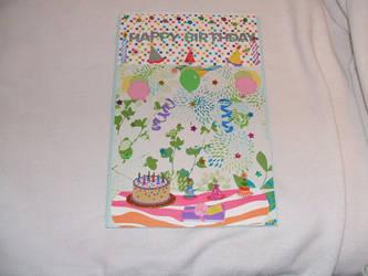 Hand-crafted Birthday card by Black-Silverstar