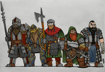 DWARVES! (Colorized) by Woad-Warrior