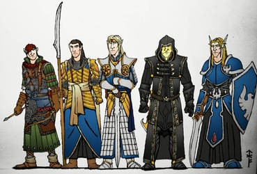 High Elves (Colorized A) by Woad-Warrior