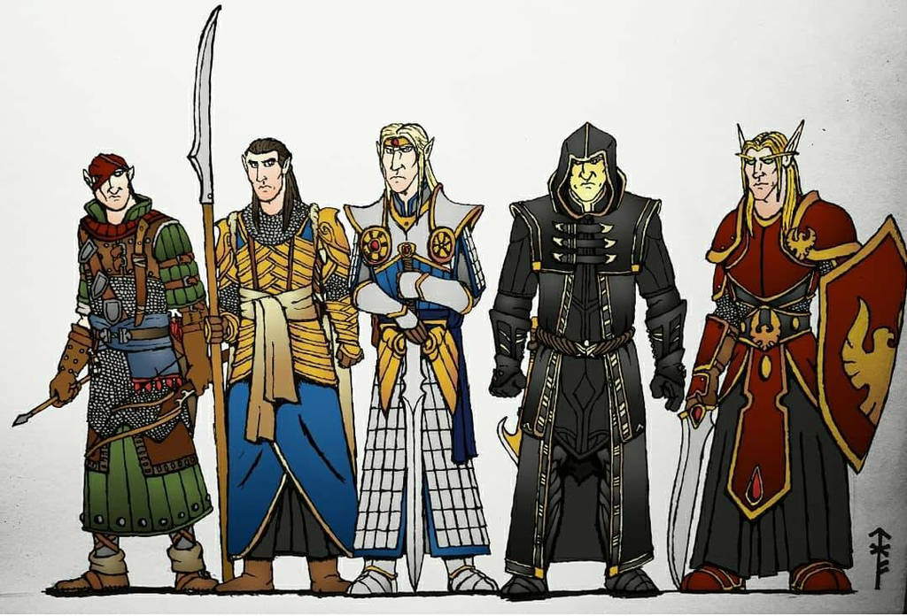 High Elves (Colorized B) by Woad-Warrior