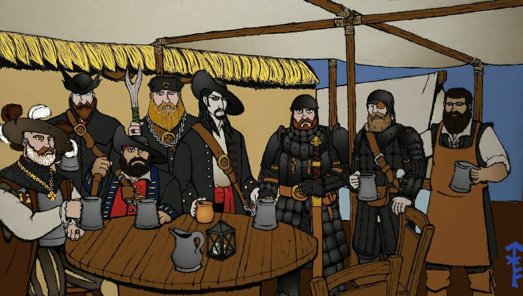 The Baron's Black Wolves (Colored) by Woad-Warrior