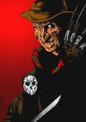 Jason Vs Freddy by hereticMag