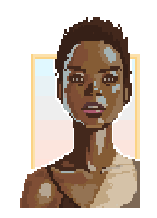 Pixel Mint Girl by FreeMech