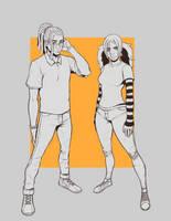 Jordan and Cindy by FreeMech