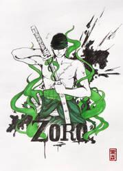 Roronoa Zoro - One Piece - colour by KuromoriRei