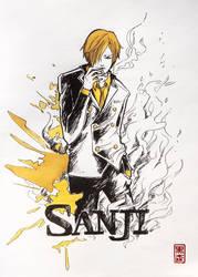 Sanji - One Piece - colour by KuromoriRei