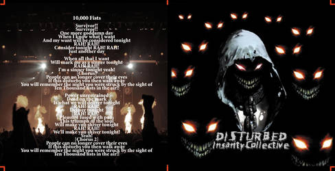 Disturbed CD Front/Back Pamphlet: CTC projects 09' by ChroniclerofChaos