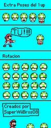 SMW 1-Up Extra Poses by SuperWiiBros08Artist