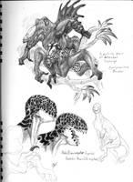 Aboreal life of Chrysaoris by elytracephalid