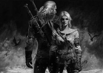 The Witcher and the Witcheress by KaraKopiara