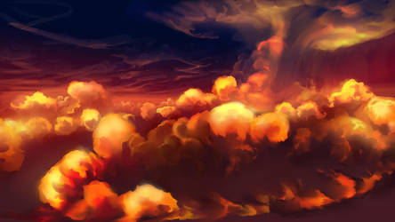 Burning Clouds by aerroscape
