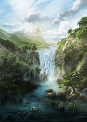 waterfall by aerroscape