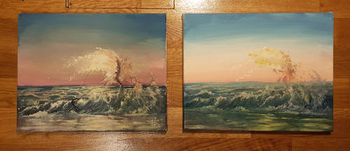 oil painting excercise 1 and 2 by aerroscape