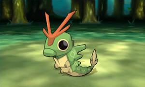 Pokemon Mega Evolution Caterpie Wild Screen Shot by morganobrienart