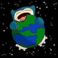 Snorlax Eat World by JakeXalrons