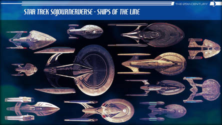 Sojournerverse - Ships of the Line - 25th Century by jonbromle1