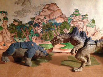 Rhinosaurus, Zilla the series figure by kaijulord21