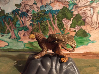 Safari Griffin mini figure by kaijulord21
