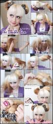 Double Bun Hair Tutorial by VioletLeBeaux