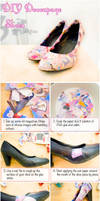 How To Decoupage Shoes Using Magazines by VioletLeBeaux