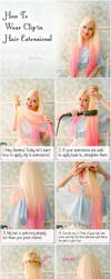 How To Use Clip In Hair Extensions - Hair Tutorial by VioletLeBeaux