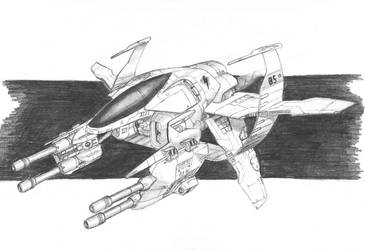 Mantis class Heavy Fighter by DissidentZombie