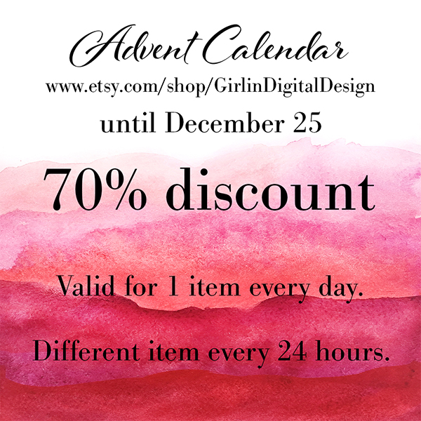Advent Calendar Sale Deviant Art by GirlinDesign