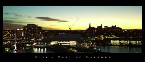 Dusk, Darling Harbour by subpiXel