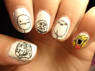 meme nails by camilaccd