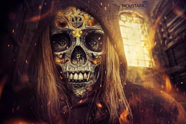 Skull on Fire ! by DARSHSASALOVE