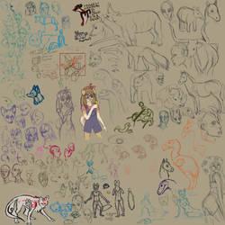 art/sketch dump 4 by KichisCrafts