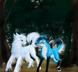 -White--wolf's Forest- by KichisCrafts