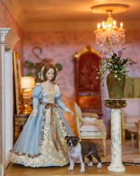Dollhouse Miniature 1:12 American Pitbull Terrier by heartfeltcanines